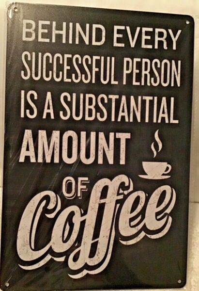 8x12 Coffee Tin Sign Metal Poster Wall Funny kitchen Plaque New