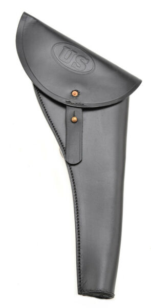 US Civil War Revolver Holster Black Leather shipped from the USA