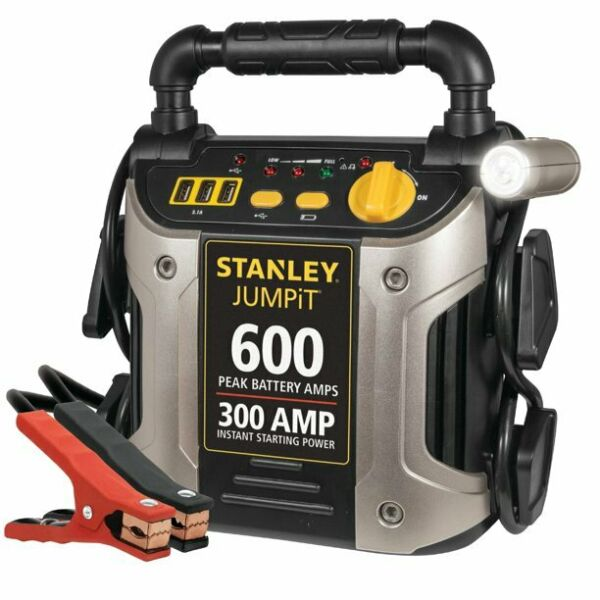 Portable Car Battery Charger Jump Start Power Starter Booster Jumper Cables LED $57.90