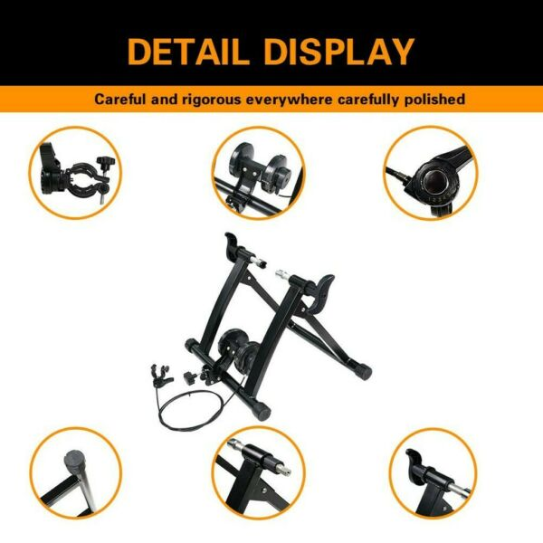 7Level Magnetic Bike Trainer Stationary Bicycle Exercise Stand Steel Frame Black $68.99