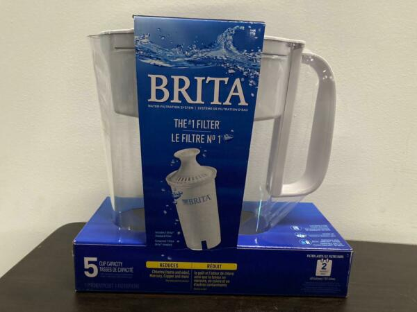 Brita Small 5 Cup Water Filter Pitcher with 1 Standard Filter BPA Free – Metro