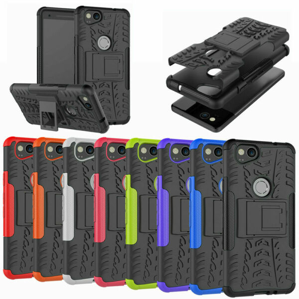 For Google Pixel 2 2XL Case Rugged Armor Protective Phone Cover with Kickstand $8.99