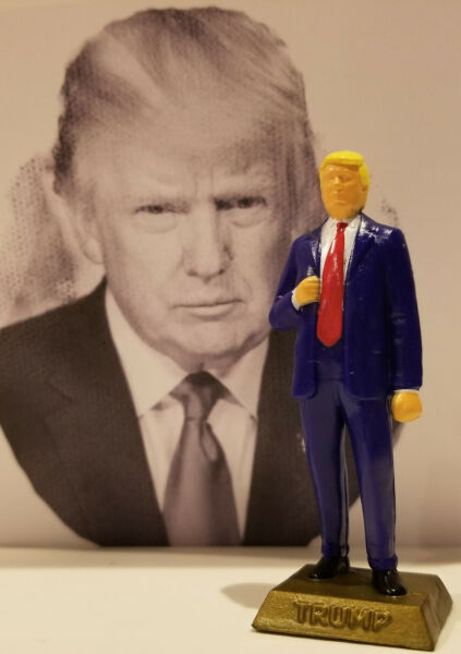 DONALD TRUMP FIGURINE ADD TO YOUR MARX COLLECTION $15.00