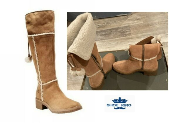 TIMBERLAND WOMEN#x27;S BRINDA TALL BOOTS MEDIUM BROWN SUEDE STYLE A216Z $78.95