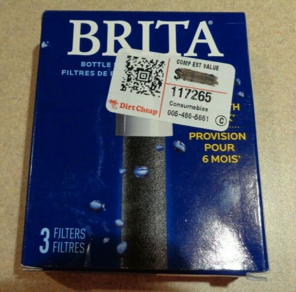 NEW Brita Water Bottle Replacement Filters 3 Pack 6 Month Supply 8N20045