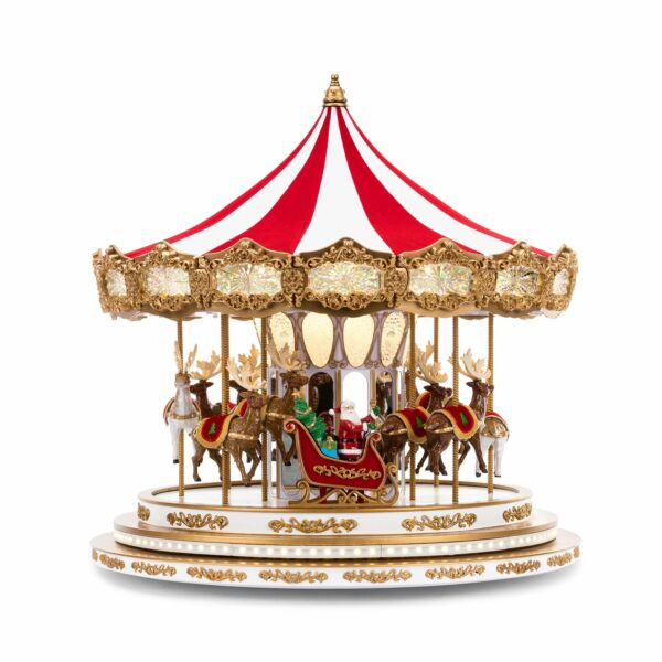 Mr. Christmas Regal Carousel Christmas Décor Red