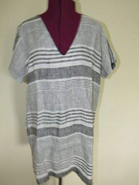Stella Martini Linen Cover Up Dress Misses Medium $23.99