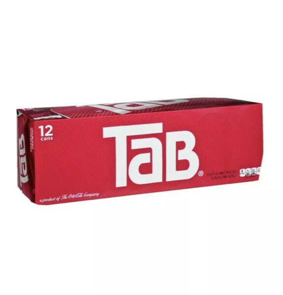 Tab Cola 12 Pack TAB Soda Soft Drinks Unopened Discontinued Sold Out🔥Sold Out🔥