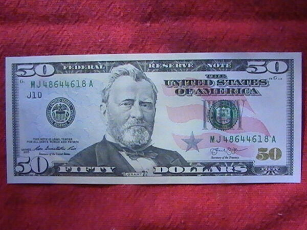 2013 $50 Fancy Note UNC MJ 48644618 A View Photos $61.95