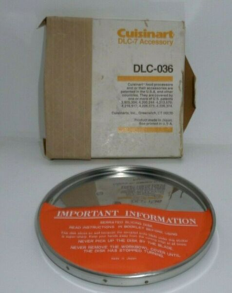 Cuisinart Food Processors DLC 7 Accessory DLC 036 Disc Replacement Blade NIB