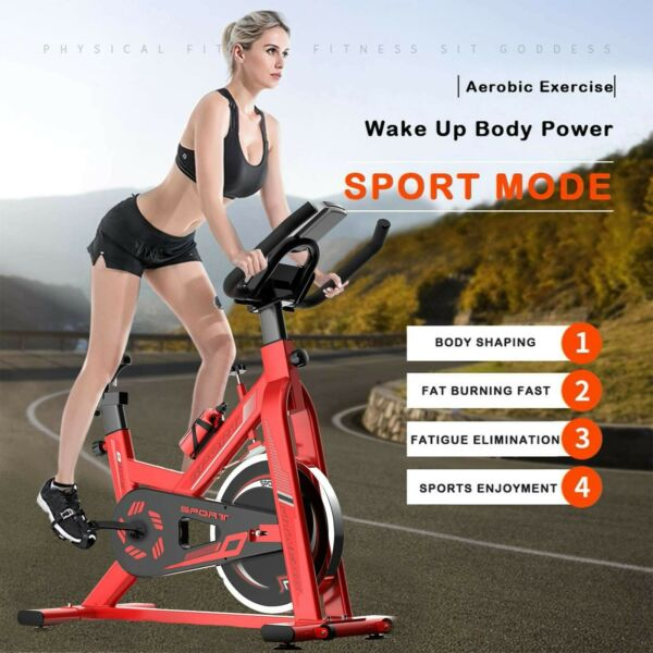 HEAVY DUTY Exercise Stationary Bike Workout Cycling Fitness Cardio Gym Bicycle $176.99