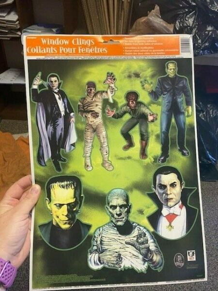 Unique Halloween Window Clings 7ct Monsters New $7.00