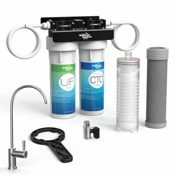 Under Sink 2 Stage Water Filter UF Membrane Filtration System CTOUF10#x27;#x27;Kitchen