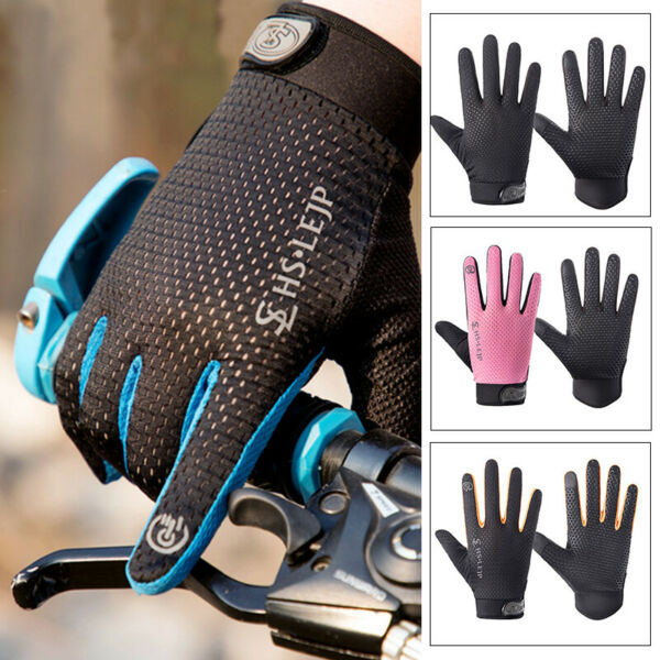 Bike Riding Full Finger Glove Racing Motorcycle Gloves Cycling Bicycle BMX MTB $5.78