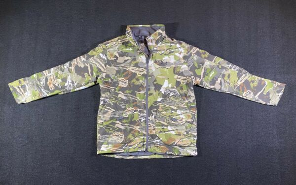 Under Armour Grit Forest Camo Hunting Jacket SZ L 1320252 940 NWT $180