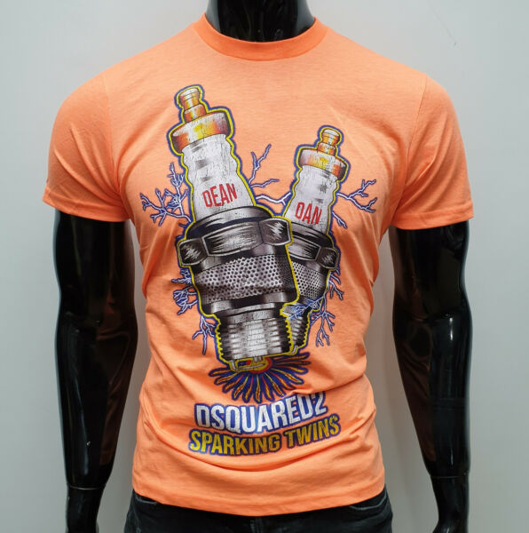 Dsquared2 Men`s T shirt Red and Orange colors ALL sizes Dsquared Fashion $37.99