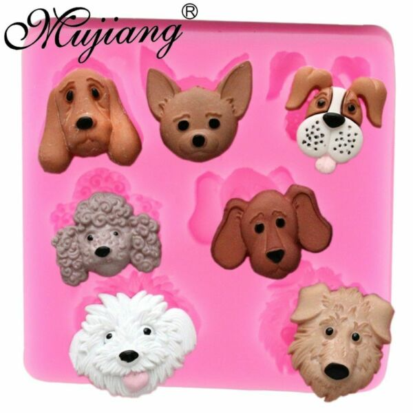 DIY Dogs Silicone Mold Epoxy Resin Jewelry Candy Chocolate Soap Making Tool $9.55