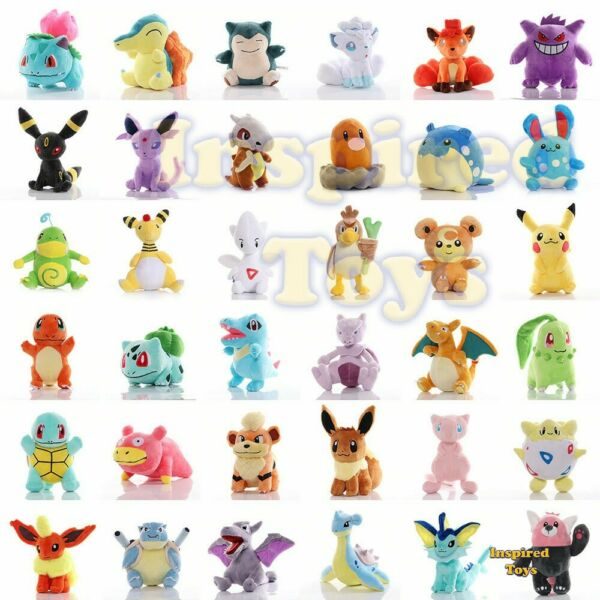 Pokemoned Plush Toy Collection Christmas Gift Dolls for Kids