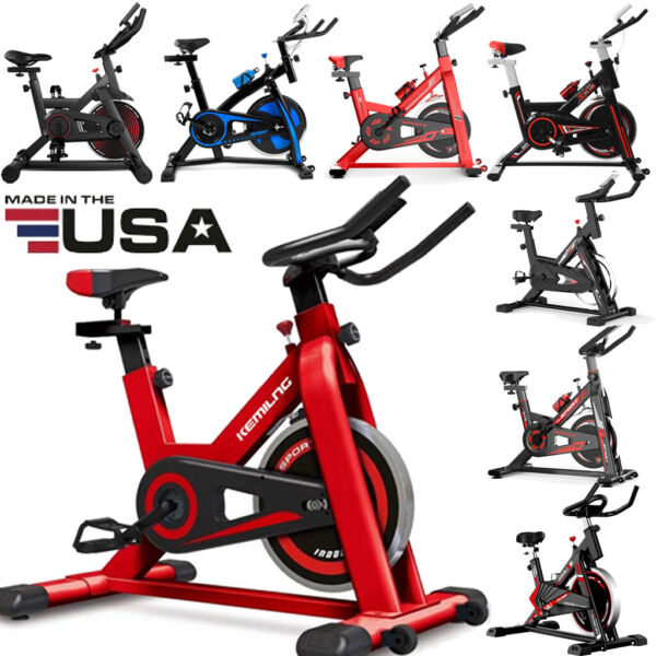 Pro Stationary Bike Exercise Bicycle Trainer Workout Cardio Cycling Fitness Gym $164.99