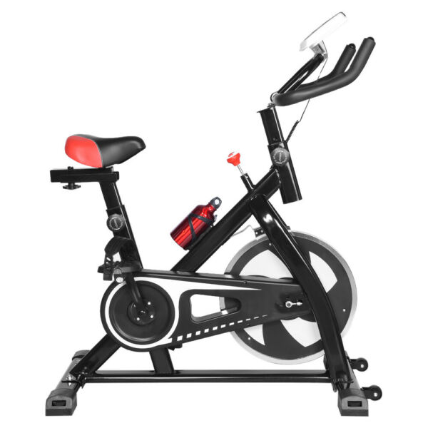 Stationary Exercise Bike Indoor Cycling Bicycle Cardio Fitness Gym Workout W LCD $136.99