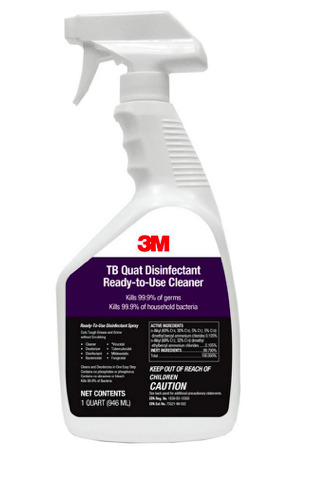 1 Quart 32oz Bottles 3M TB QUAT Disinfectant Ready to Use Cleaner spray 99.9% $15.99