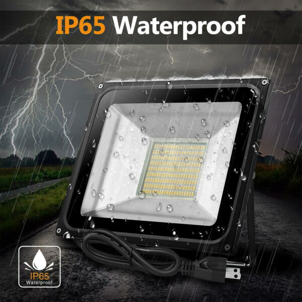 30W LED Flood Light Outdoor Outside Spotlight Security Wall Lighting With Plug