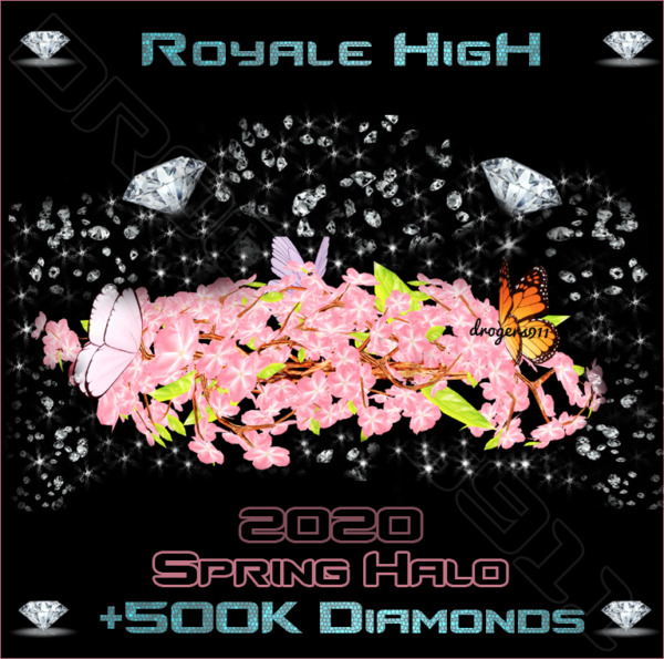 ROBLOX ROYALE HIGH 🌷 SPRING HALO 500K DIAMONDS 🌷 CHEAPEST PRICE