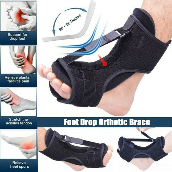 2020 Plantar Fasciitis Night Splint Foot Drop Orthotic Brace Adjustable Achilles