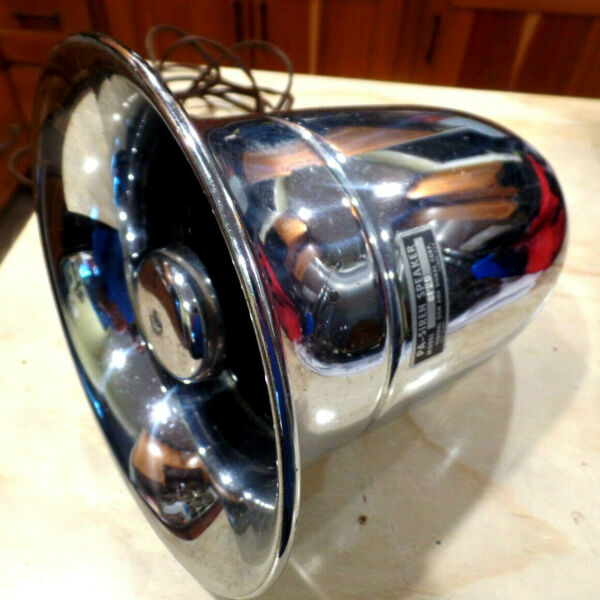 VINTAGE PA SIREN SPEAKER CHROME FIRE ENGINE SIREN FEDERAL SIGN amp; SIGNAL CORP IL.