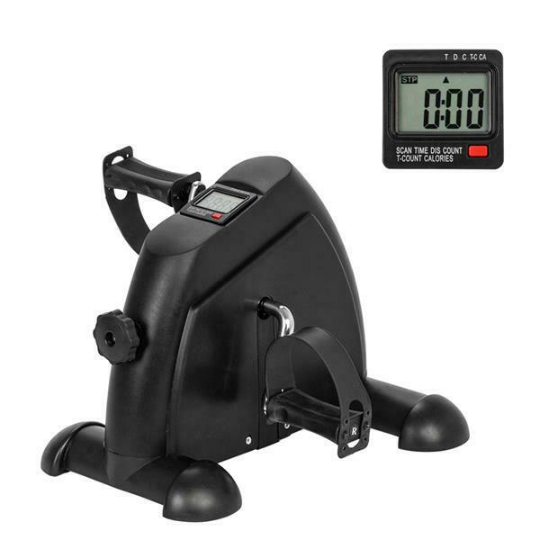 Mini Exercise Bike Desk Pedal Bicycle for Leg and Arm Cycling Exerciser W LCD $35.59