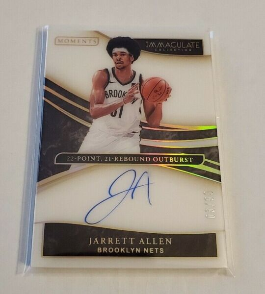 R53087 2019 20 Immaculate Collection Moments Autograph Jarrett Allen #3 99 $40.00