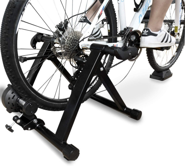 BalanceFrom Bike Trainer Stand Steel Bicycle Exercise Magnetic Stand with Front $139.99