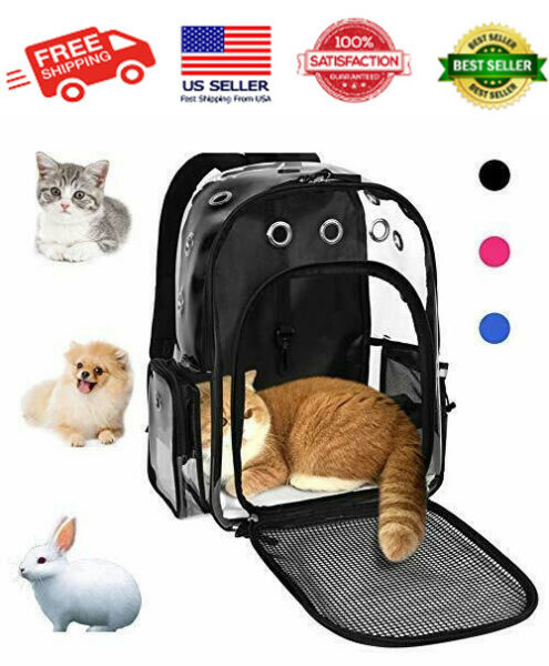 Pet Cat Dog Backpack Carrier for Small Animal Breathable Clear Lightweight NEW $35.04
