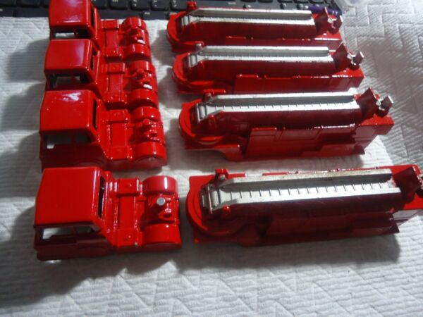 Vintage MIDGETOY DIE CAST Fire Engine La France repainted 8#x27;#x27; long #2