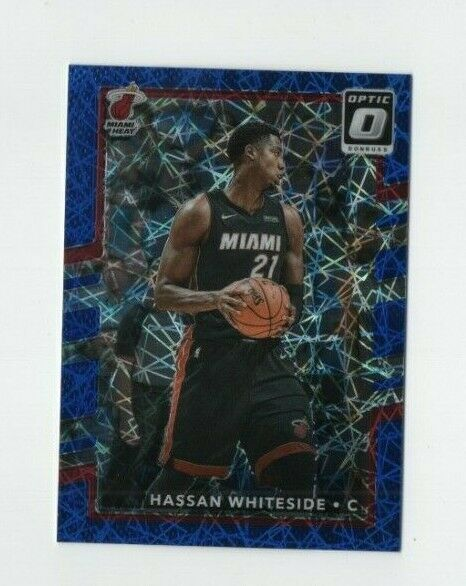 2017 18 Donruss Optic Prizm Blue Velocity HASSAN WHITESIDE MIAMI HEAT #80 $1.50