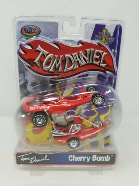 Toy Zone Tom Daniel Cherry Bomb Red Car Trailer amp; Bike Die Cast 1 43 New $49.99