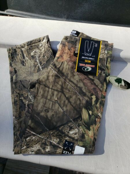 New MOSSY OAK Mens 5 Pocket Comfort Flex Pant Camo Hunting Jeans CHOOSE SIZE