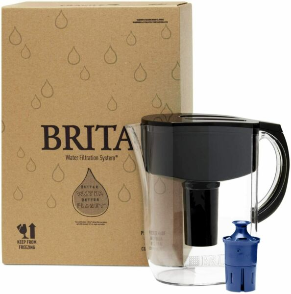 Brita Longlast Everyday Water Filter Pitcher Large 10 Cup 1 Count Black