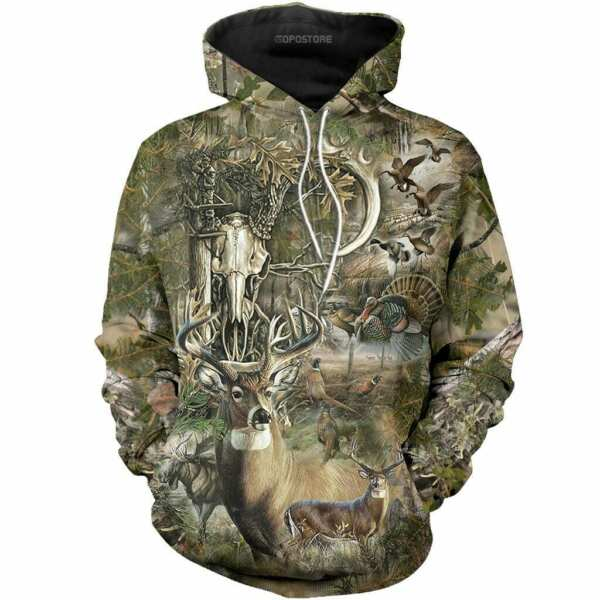 Beautiful Hunting Camo 3D Pullover Hoodie Full Over Printed S 4XL