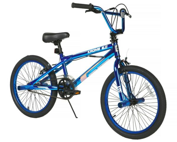 20quot; Boys BMX Bike Steel Frame 2.0 Blue Krome Single Speed Front Caliper Brake $121.00