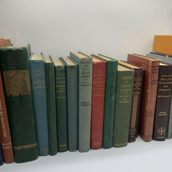 12 Vintage Old Rare Decorative Antique Hardcover Books Mixed Color decor