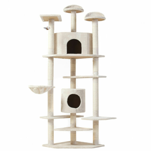 High Quality Cat Tree 80quot; Condo Scratching Post Pet Furniture Cat Kitten House $22.99