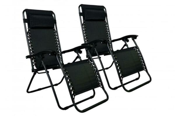 Zero Gravity Chairs Case Of 2 Lounge Patio Chairs Outdoor Yard Beach O85 New $32.99
