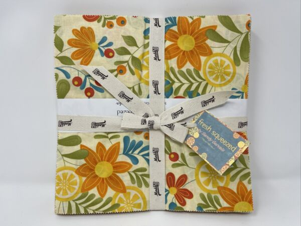 Moda FRESH SQUEEZED Kit Includes Layer Cake Pattern 4 Yards Of Fabric