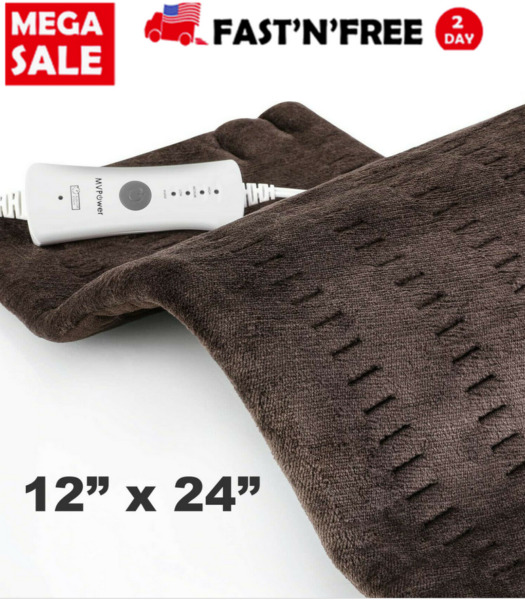 Weighted Heating Pad for Pain Relief 4 Heat Settings with Auto Shutoff $31.66