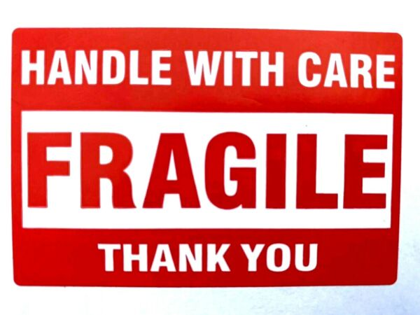Fragile Stickers 50 2quot;x3quot; Handle With Care Packing Packaging Shipping Labels