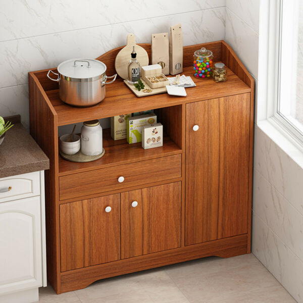 Home Wood Kitchen Cupboard Rack Storage Cabinet Pantry Organizer Shelf Furniture