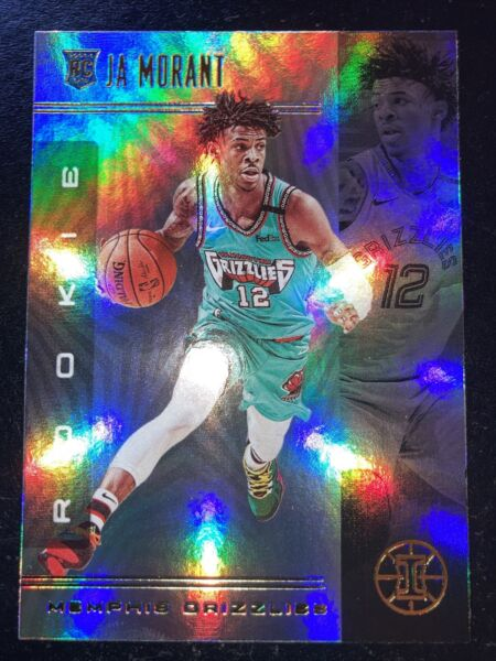 Ja Morant 2019 20 Panini Illusions Rookie Holo Foil Base RC #161 Grizzlies