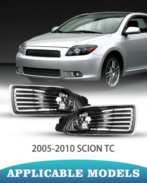 Fog Lights for 2005 2010 Scion tC Clear Lens Replace Factory Lamps Wires Set $43.25