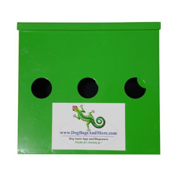 Triple Roll Dog Waste BagsDispenser 600 Biodegradable Bags 1 Yellow Sign $84.96